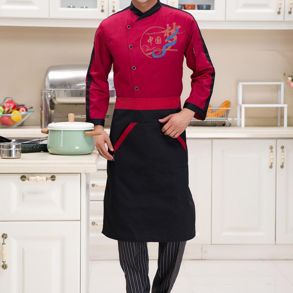 Women Men Home Restaurant Kitchen Cooking Apron with Big Pocket Chef Waiter