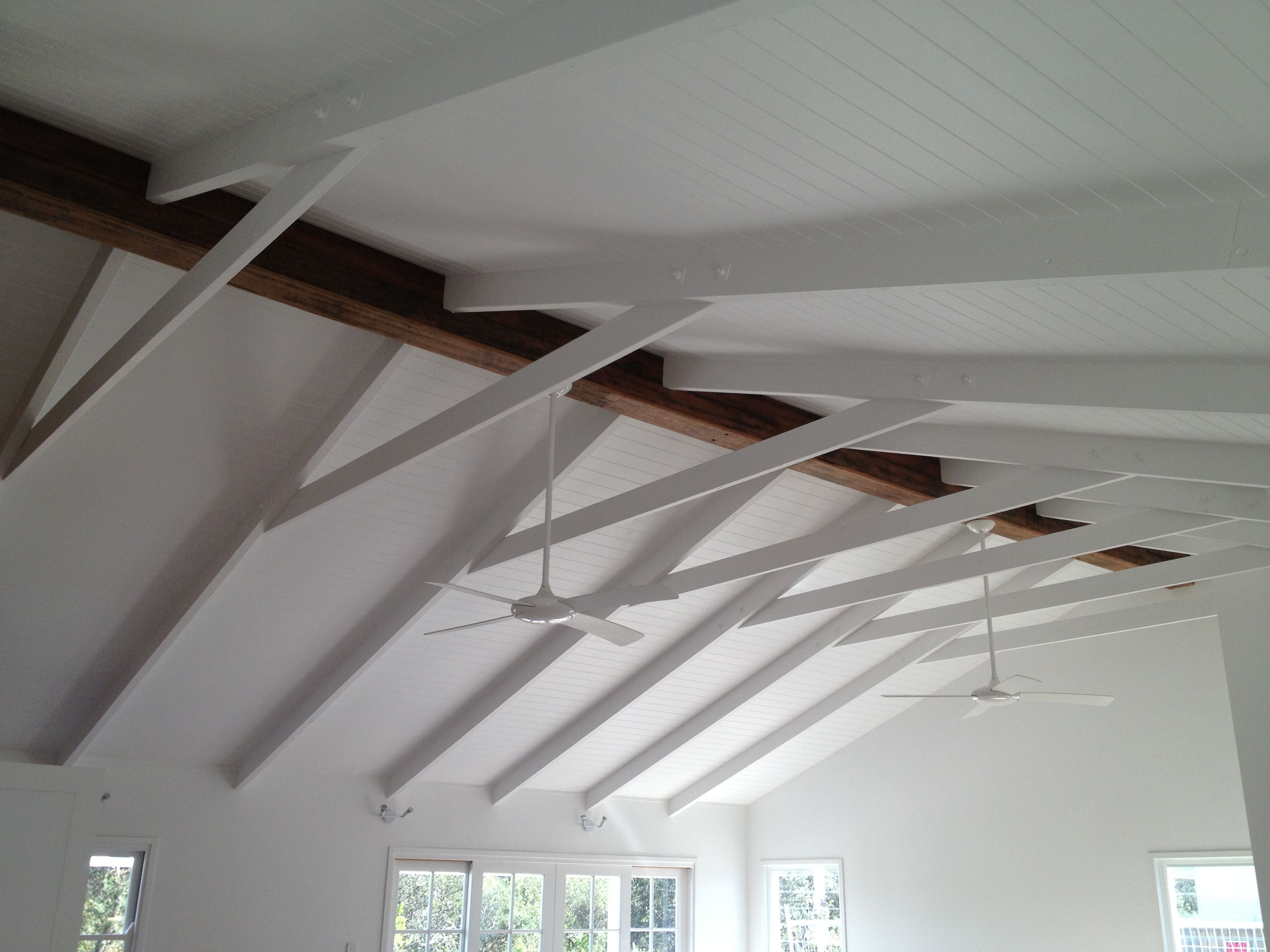 Raked Ceiling And Exposed Timber Beam But No Colar Tie