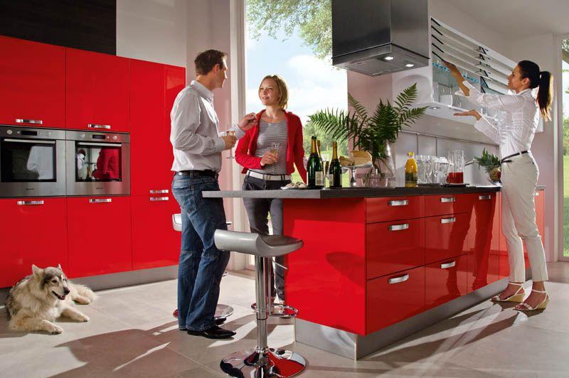 neo rot h cker k chen einfach rot folieren ideen. Black Bedroom Furniture Sets. Home Design Ideas