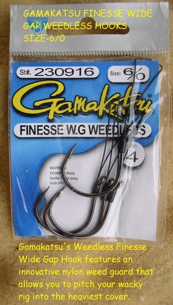 Gamakatsu Finesse Wide Gap Weedless Hooks Weedless Hooks
