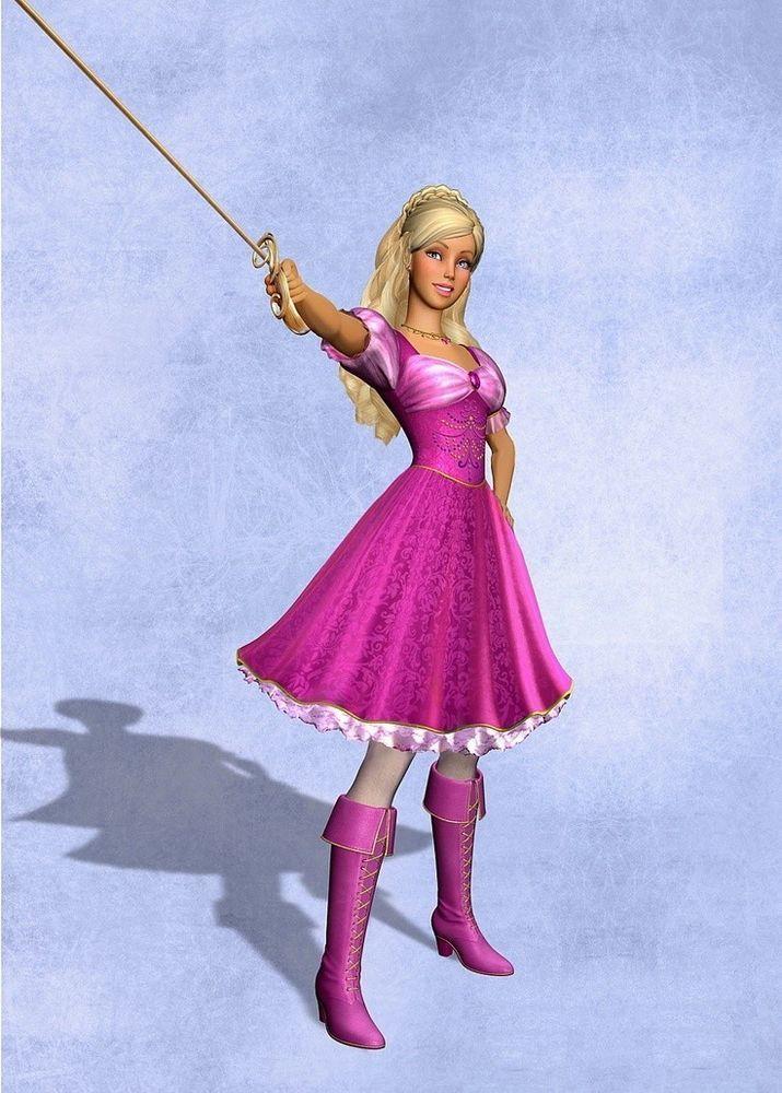 Barbie three musketeers light switch plate kids girls room wall art Home Decor
