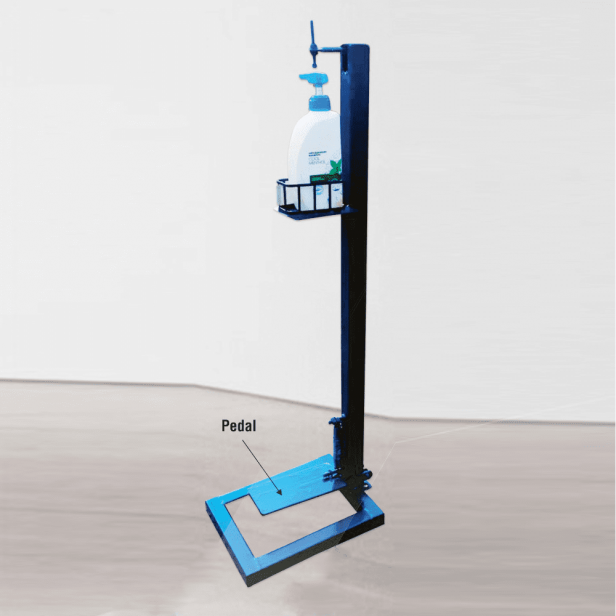 BKR® Foot Pedal Hand Sanitizer Stand Without Bottle