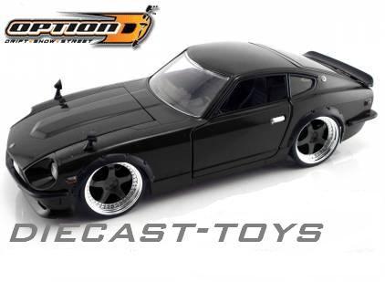 Jada 1 24 Option D 1972 Nissan Datsun 240z 1 24 Black Detail Photo 12 99 Datsun 240z Datsun Diecast Toy