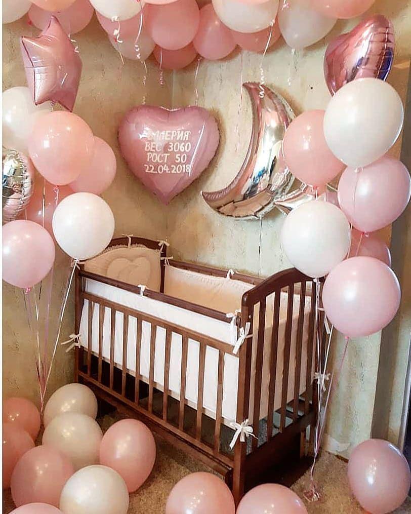 ✓Шары на выписку для маленьких принцесс!😍 ☄ ☄ ↪Сделать заказ Whatsapp ☎️  +7 (977) 742-67-64 ☄ ☄ 💰Сто… | Воздушные шары, Детский день рождения  декор, Гелиевые шары
