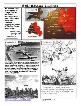 The Berlin Blockade Soupstone Primary Source Analysis Worksheet This 2 Page Common Core Aligne Social Studies Worksheets Social Science Social Studies Lesson