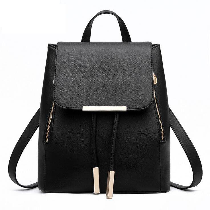 Fashion Femmes Noir Sac à dos école étudiant Bags Female mochila pour ado