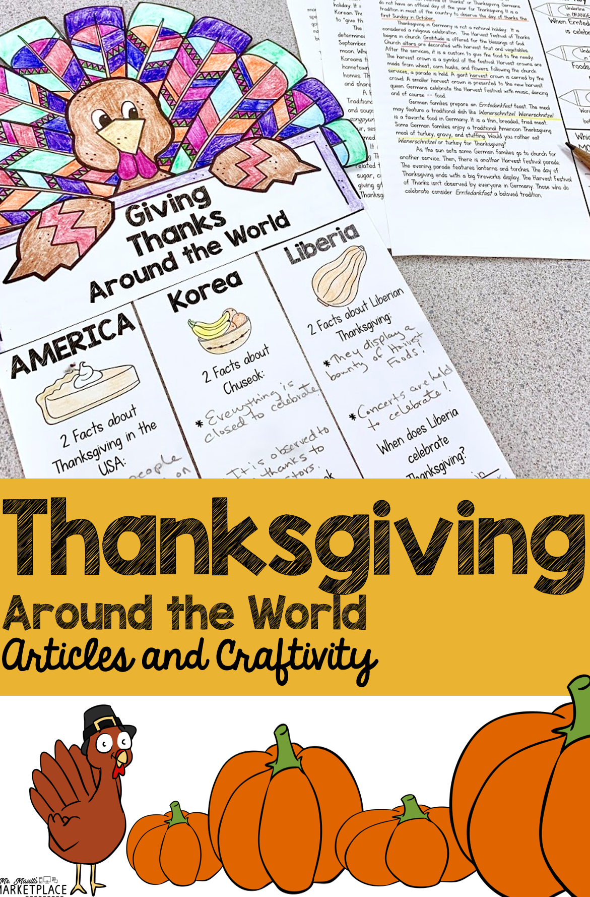 Thanksgiving Around The World A Week Long Study And