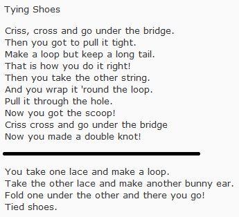 Shoe Tying Song