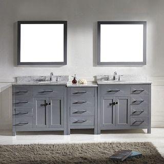 Virtu Usa Caroline Parkway 93Inch Double Bathroom Vanity Cabinet Inspiration Shop Bathroom Vanities 2018