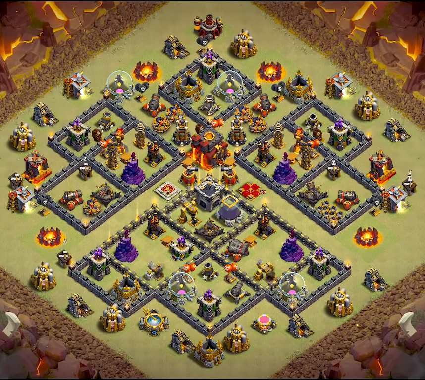 Base Coc Th 10 War 2019 9