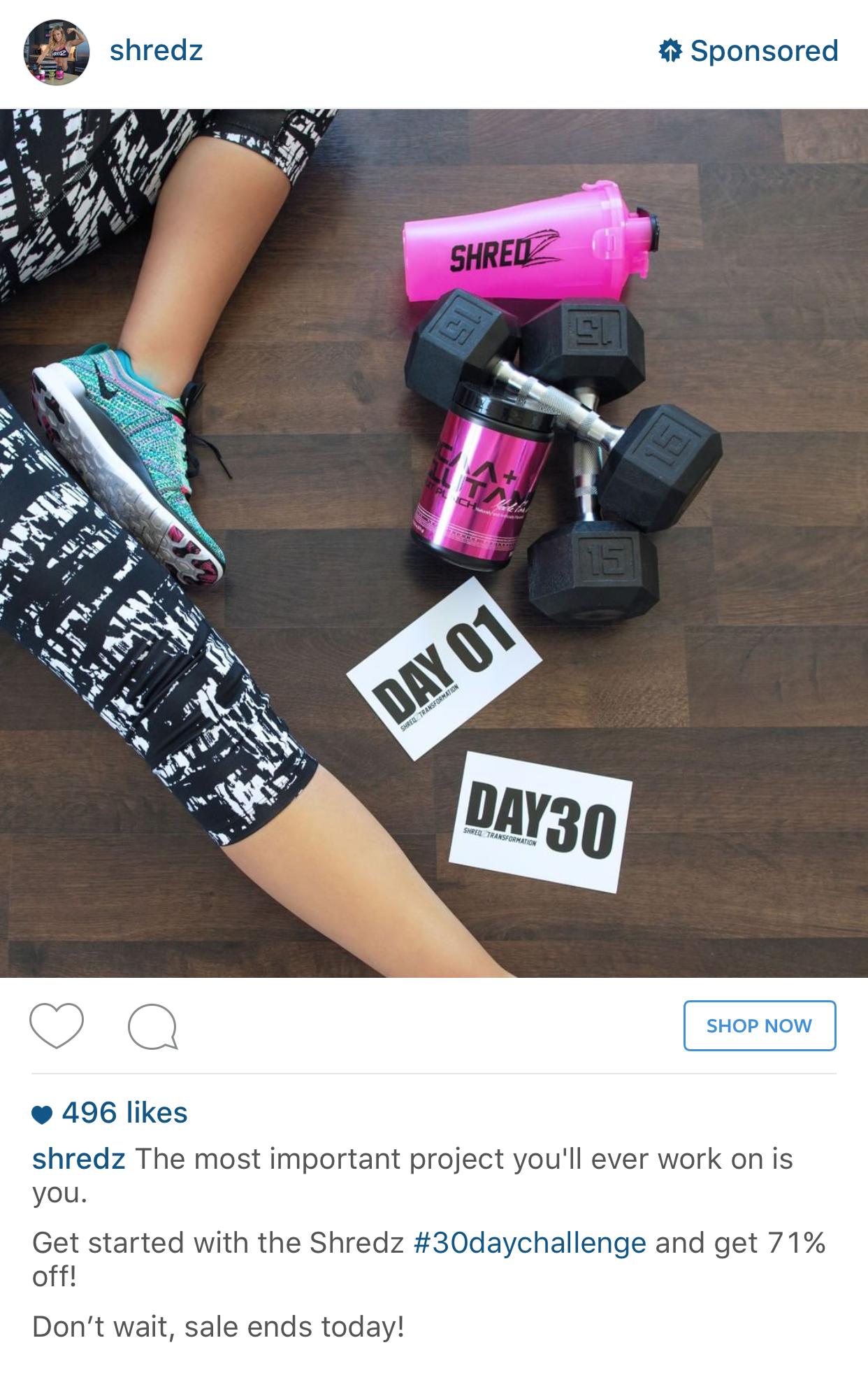 Shredz fitness app install instagram ad example instagram ad shredz fitness app install instagram ad example fandeluxe Images