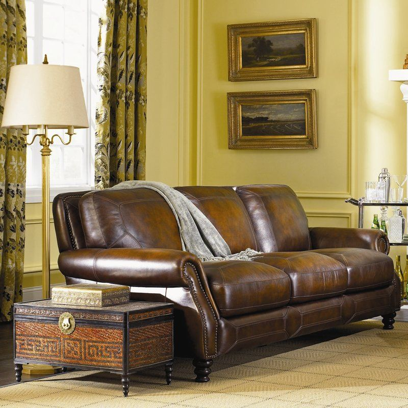 Darby Home Co Goldhorn Leather Sofa Reviews Wayfair Leather Sofa Genuine Leather Sofa Leather Sofa Set
