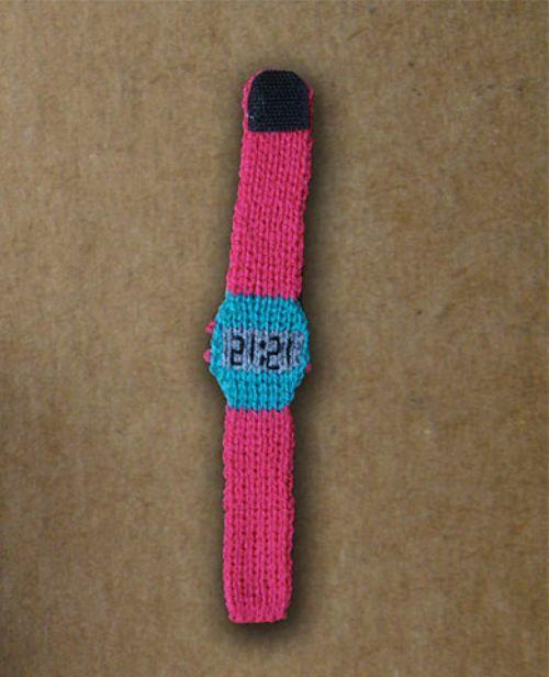 Cute knitted watch-bracelet