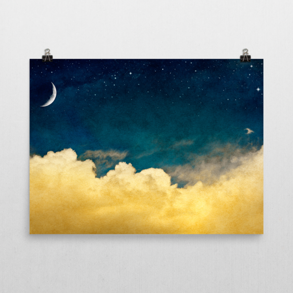 Wall Art / The moon, the stars and the clouds | Cloud, Walls and Museums