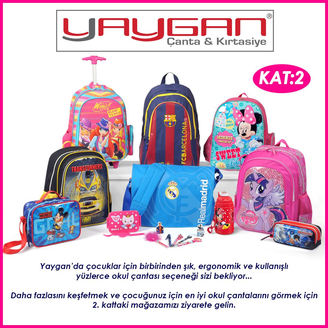 Photo of Yaygan offers stylish, ergonomic and convenient faces for children.