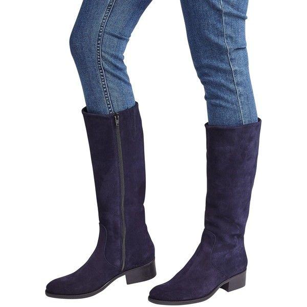 navy suede knee high boots uk