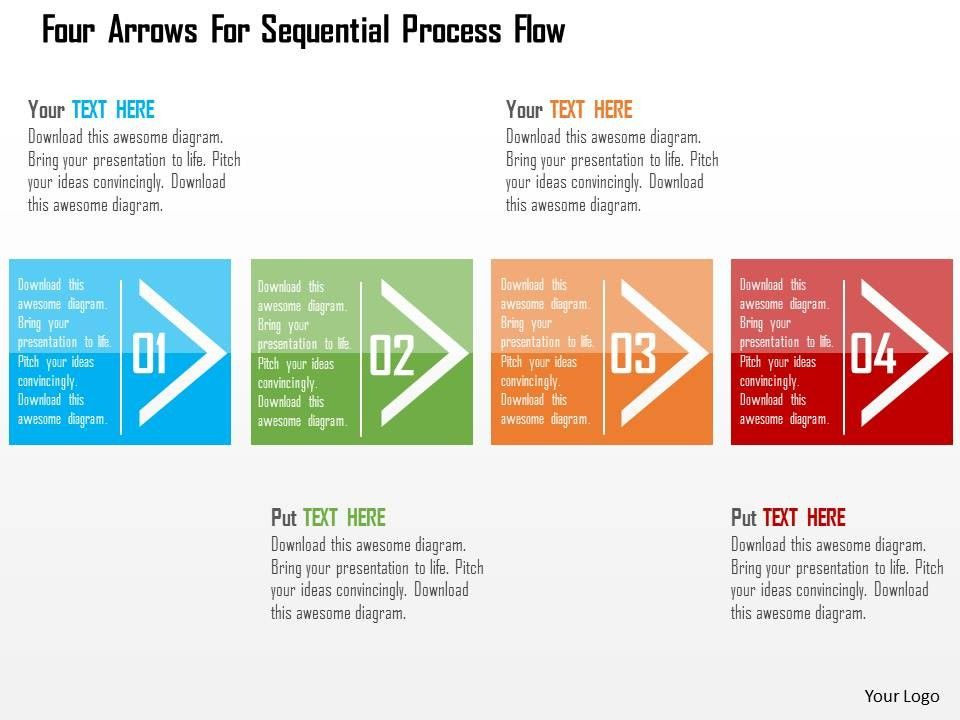 use an element of a shape on each slide of powerpoint process map