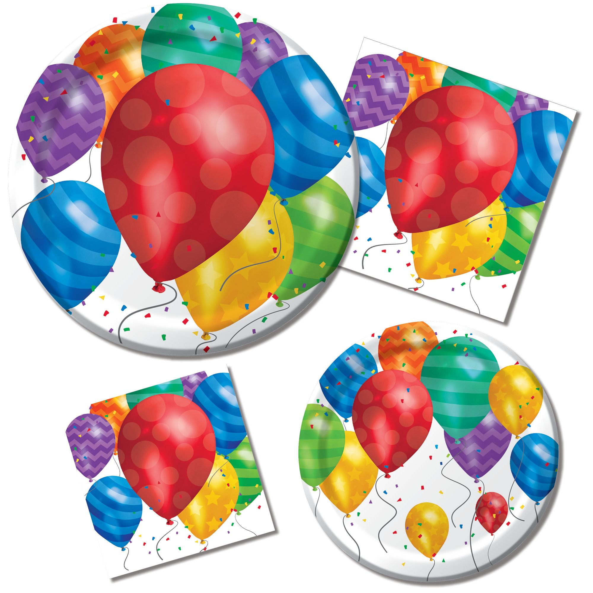 Horns /& Balloons Collection Plates Birthday
