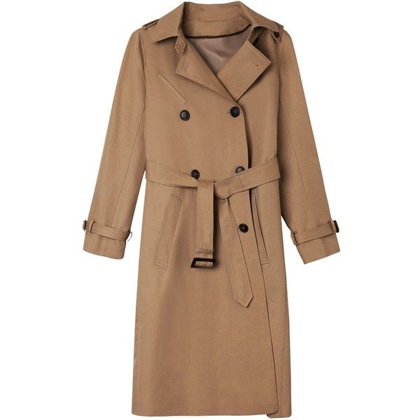 Gerard Darel Boris Trench Coat, Beige (€225) ❤ liked on Polyvore featuring outerwear, coats, gérard darel, flannel coats, beige coat, beige trenchcoat and gerard darel coat