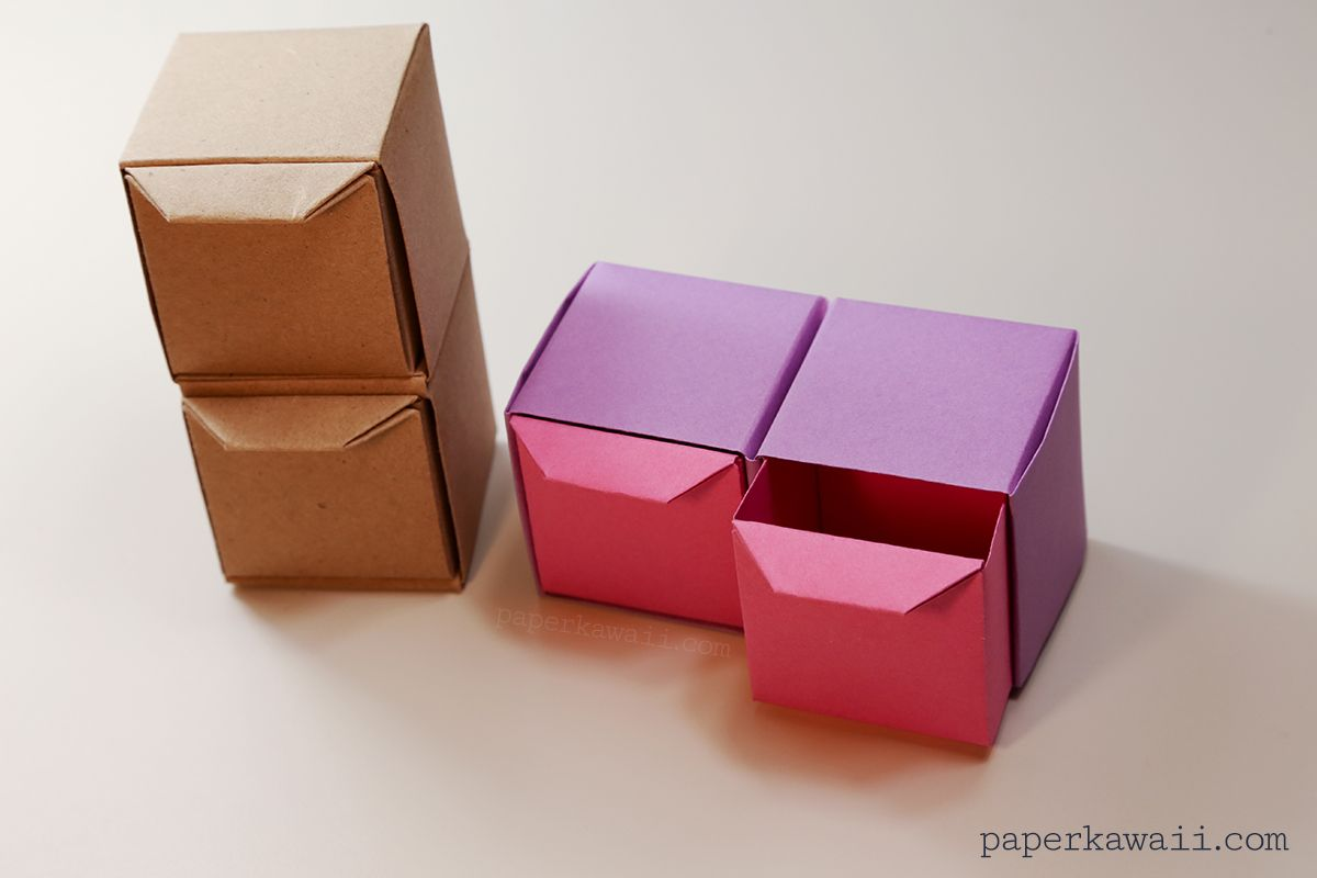 Origami Pull Out Drawers Instructions Paper Kawaii Origami Paper Box Diy Paper Crafts Origami