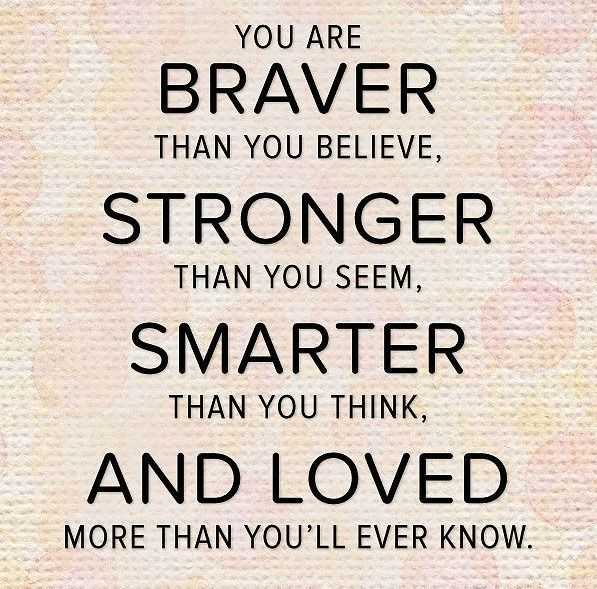 You Are Braver Than You Believe Quotes Quotes Inspirational