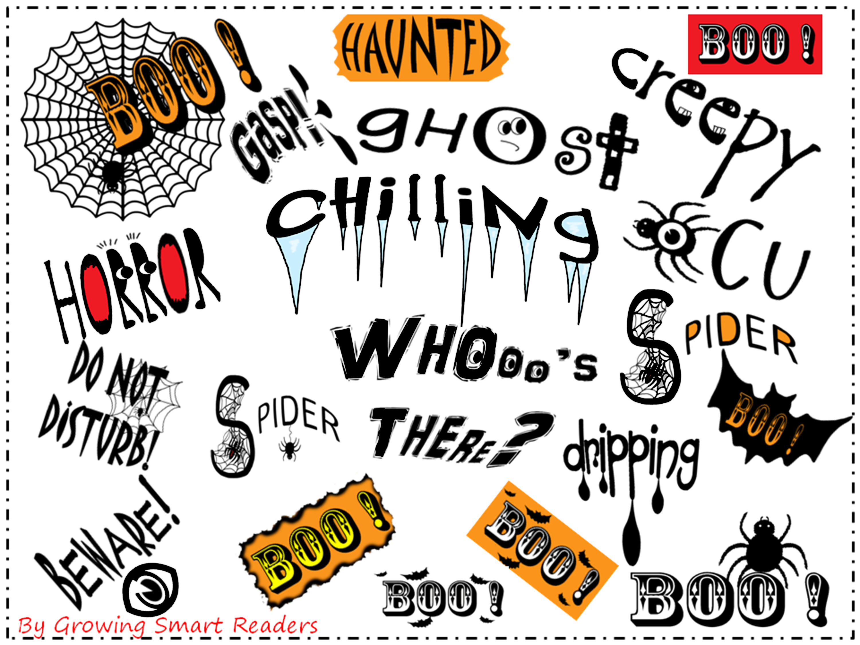 Halloween Spooky Word Art For Teachers And Students