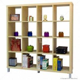 Q Box 4x4 Shelving Unit - Natural 153.2cm (W) x 39cm (D) x 163.2cm (H) Individual Shelves: 35 (W) x 38 (D) x 35 (H) $219