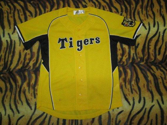Vintage Hanshin Tigers Baseball Team Fans Jersey Shirt Hanshin Tigers Jersey Shirt Tigers Baseball