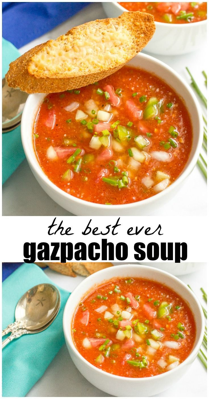 Easy Tomato Gazpacho Recipe Summer Soup Recipes Gazpacho Soup