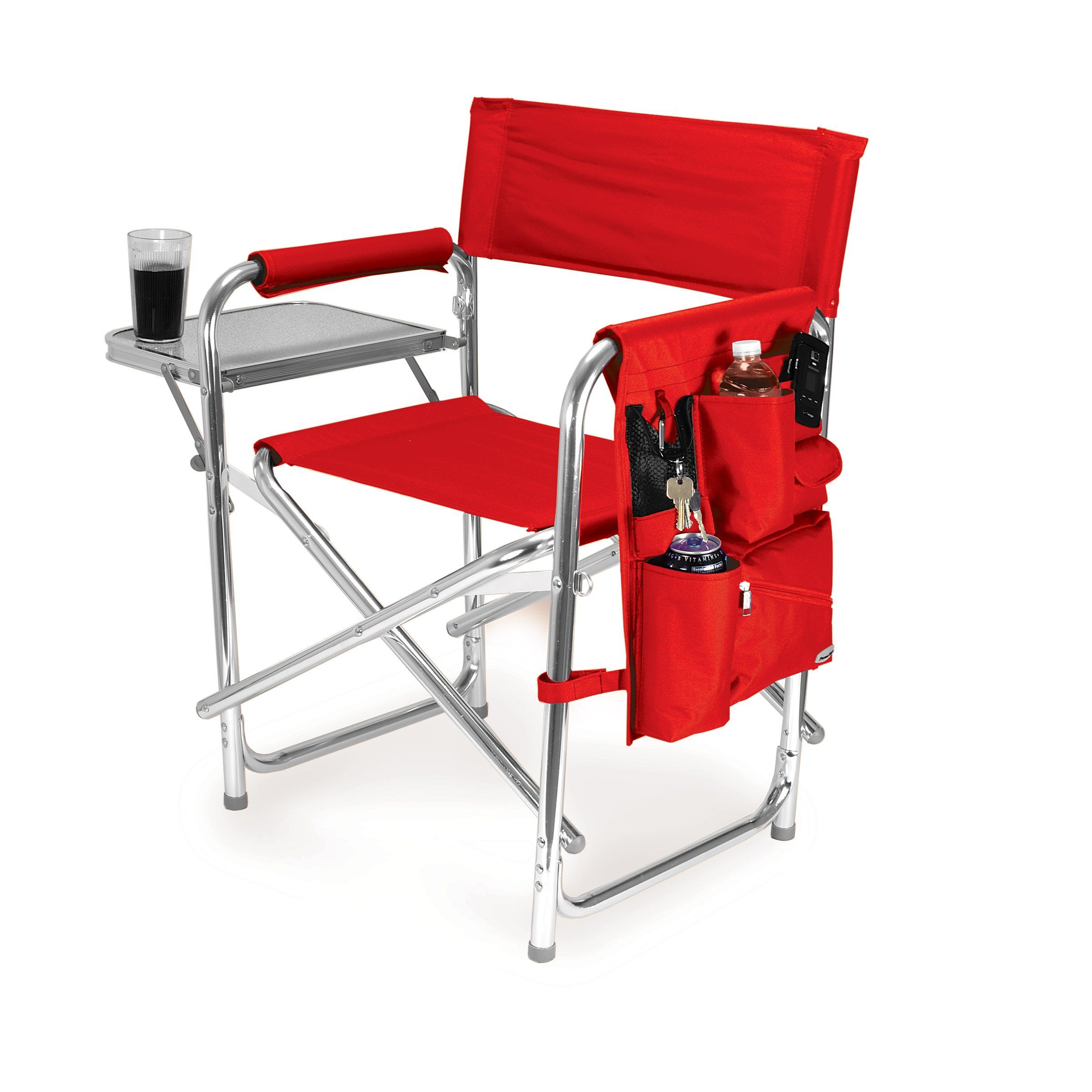 Picnic Time Portable Folding Sports Chair Red Visit The