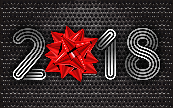 Télécharger Fonds D'écran 2018 Nouvel An, Soie Arc, En