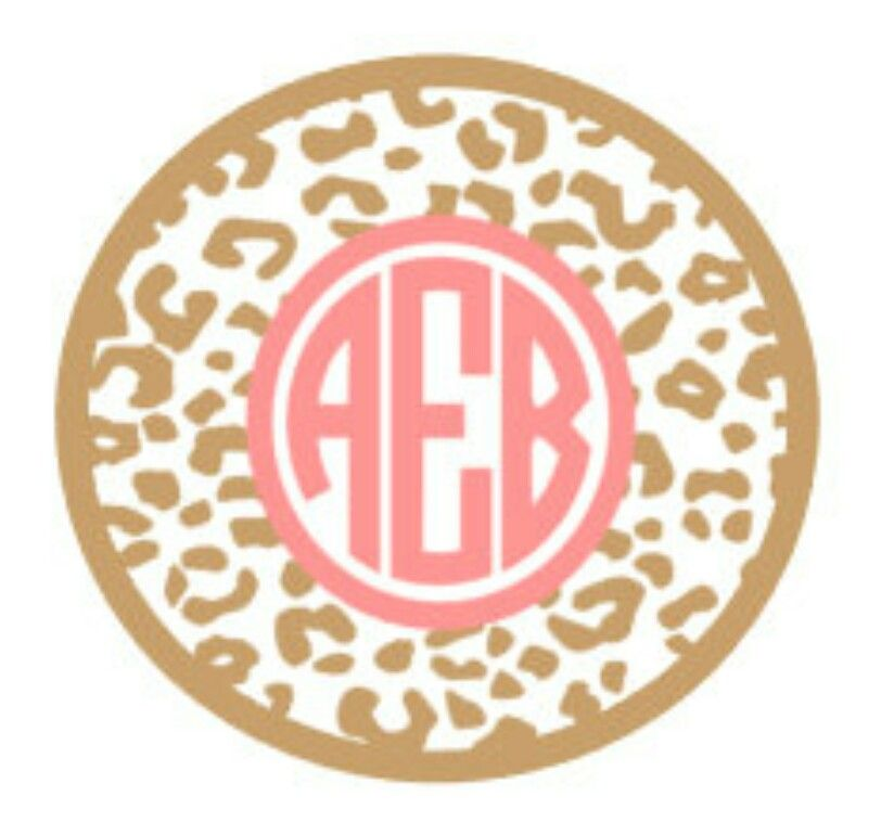 Leopard circle monogram Girl monogram shirt, Cricut