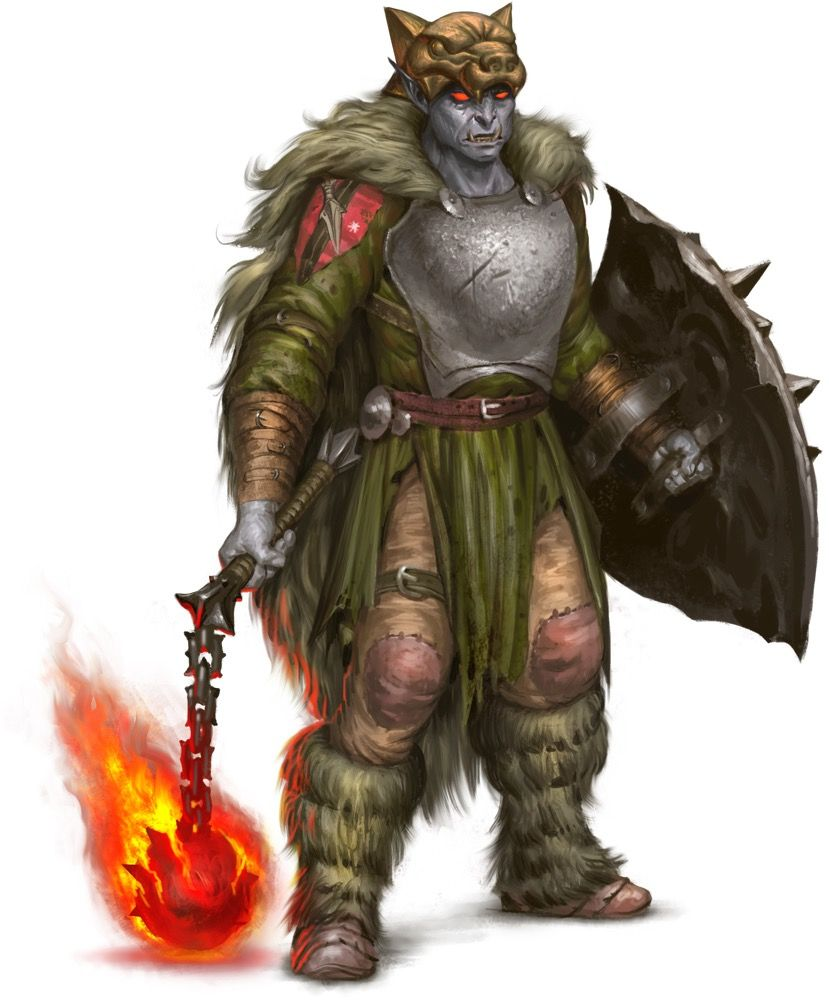 Male Orc Fighter or An...