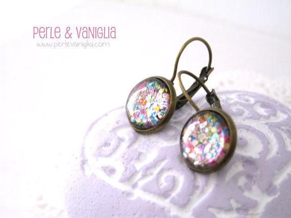 """Carnival"" #earrings in my #Etsy shop ☆☆☆ https://www.etsy.com/it/listing/178836866/carnival-spedizione-gratuita-incantevoli  #handmade #nailpolish #jewelry"