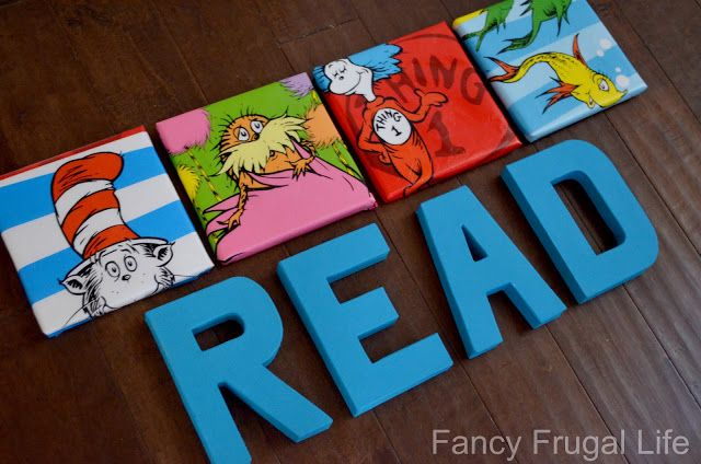 Dr. Seuss Wall Art U0026 READ Letters Tutorial: Plastic Character Bags Cut And  Wrapped