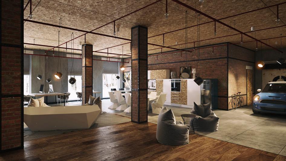 35 lofts industriels créés avec un logiciel de rendu 3D Warm - Logiciel De Maison 3d