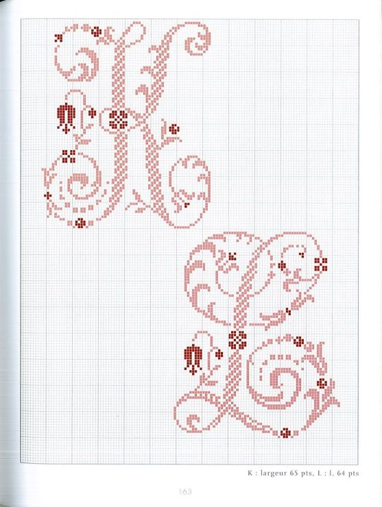 Gallery.ru / Фото #93 - Belles lettres au point de croix - logopedd | Alfabeto punto croce