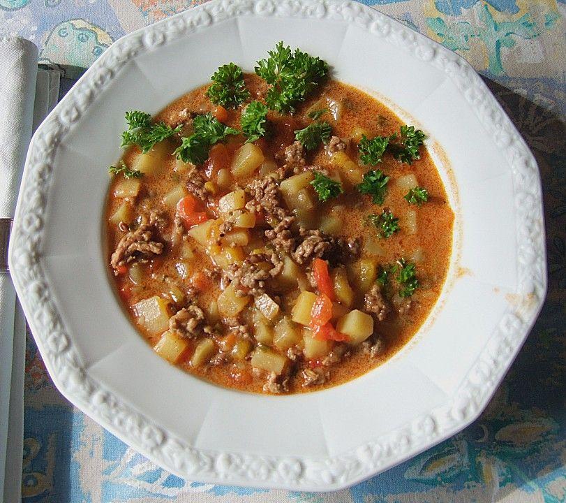 Bauern - Eintopf mit Hackfleisch | Leckeres | Soup recipes ...