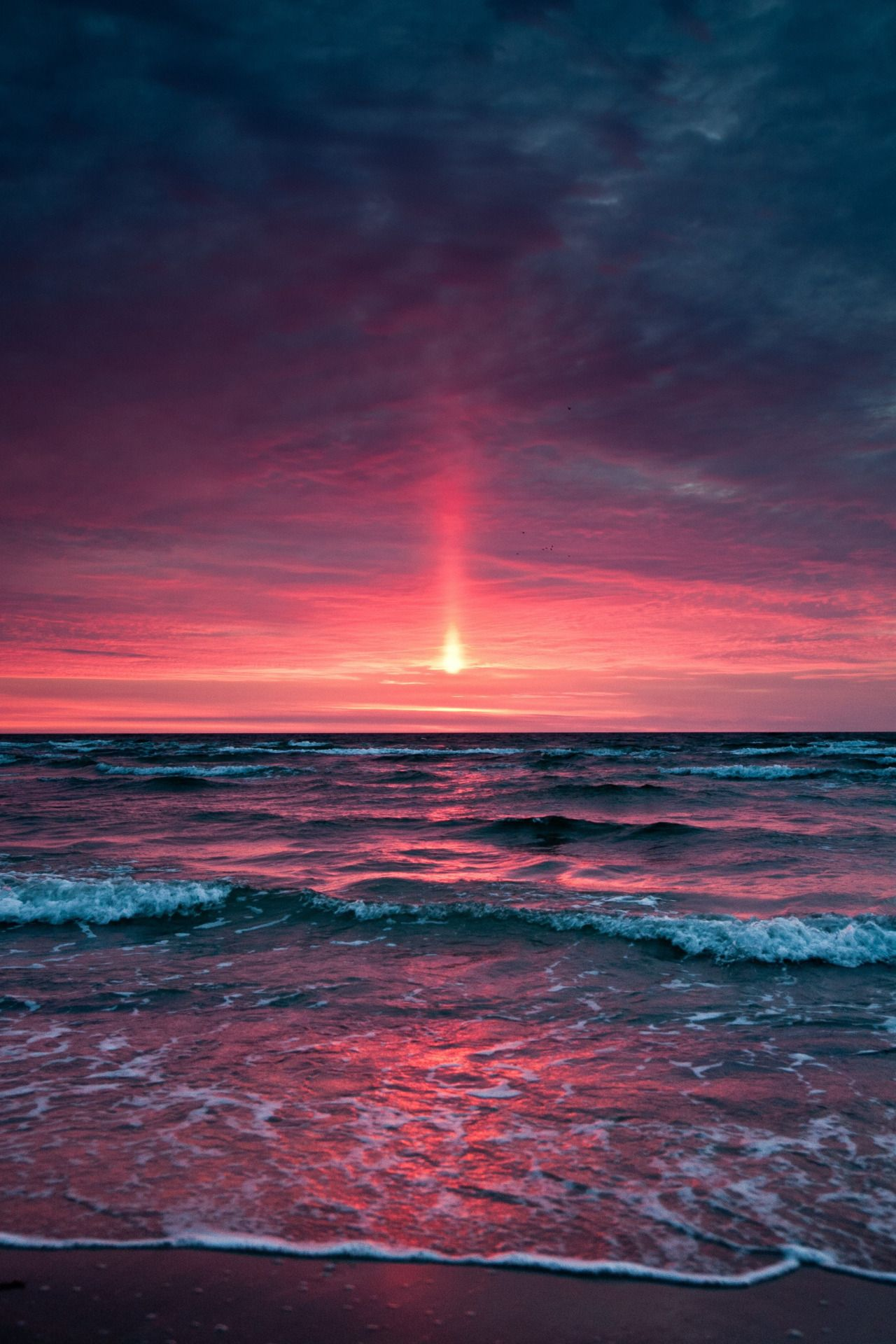 Image result for rosy sky above the ocean