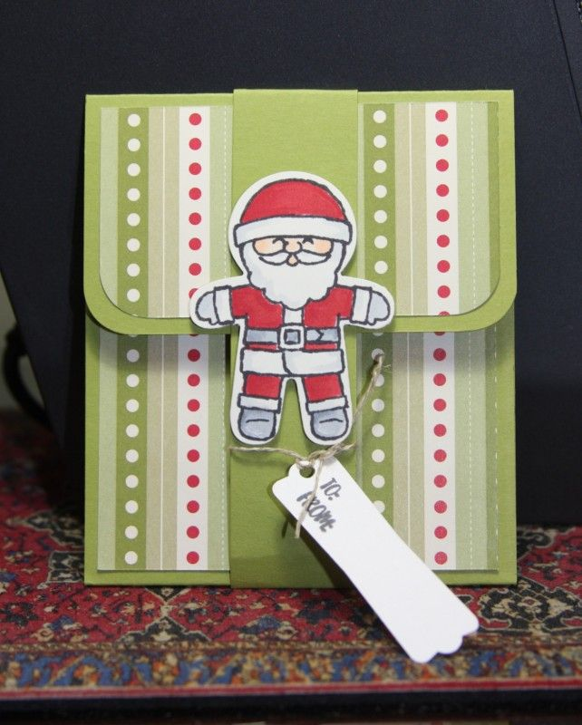 FF16scraperwannabe Gift card holder easy w Santa by CAKath - Cards