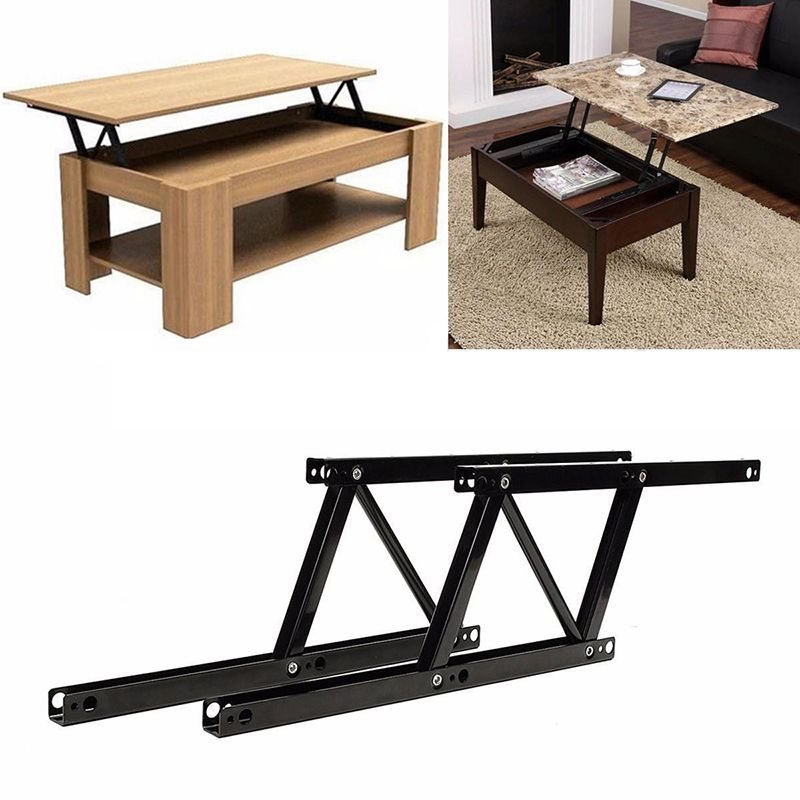 Charming 1Pair Lift Up Top Coffee Table Hinges DIY Hardware Fitting Furniture  Mechanism Hinge Spring For Home