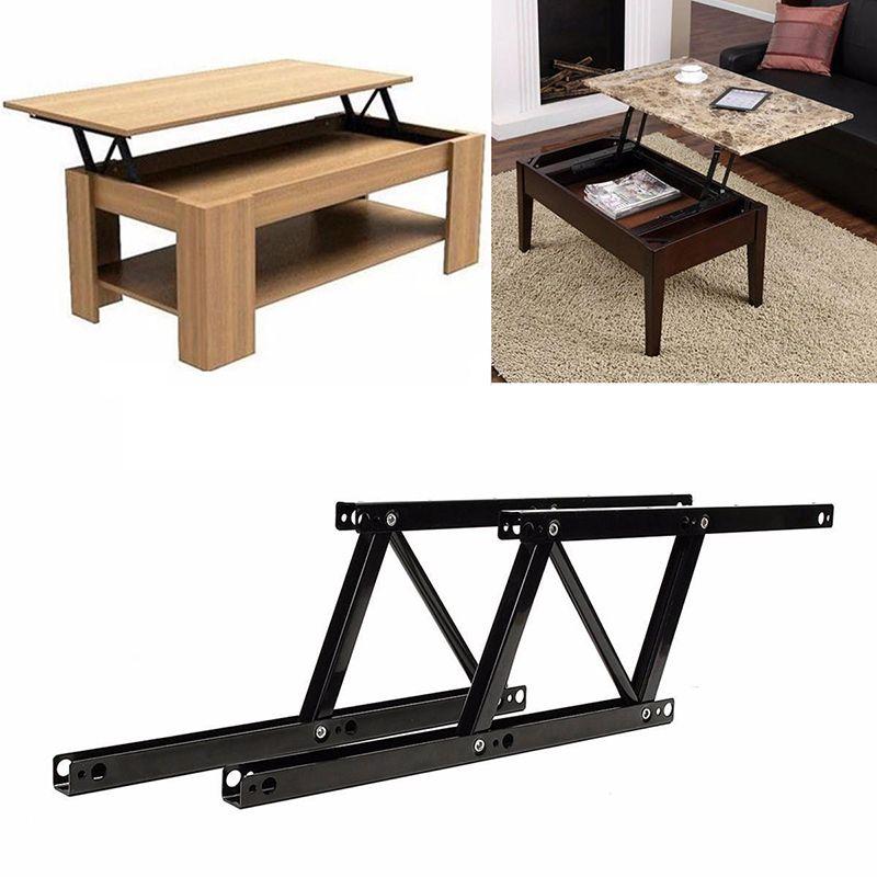 1 par lift up mesa de centro superior bisagras hardware de for Coffee table with hinged top