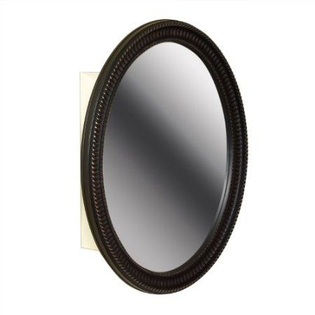 Amazon Com Zenith Products Bmv2532bb Oval Mirror 25 X 32