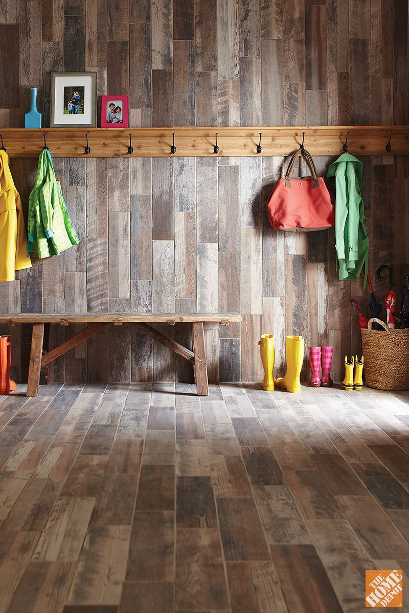 The Texture And Detail Of This Reclaimed Wood Look Tile Is Simply