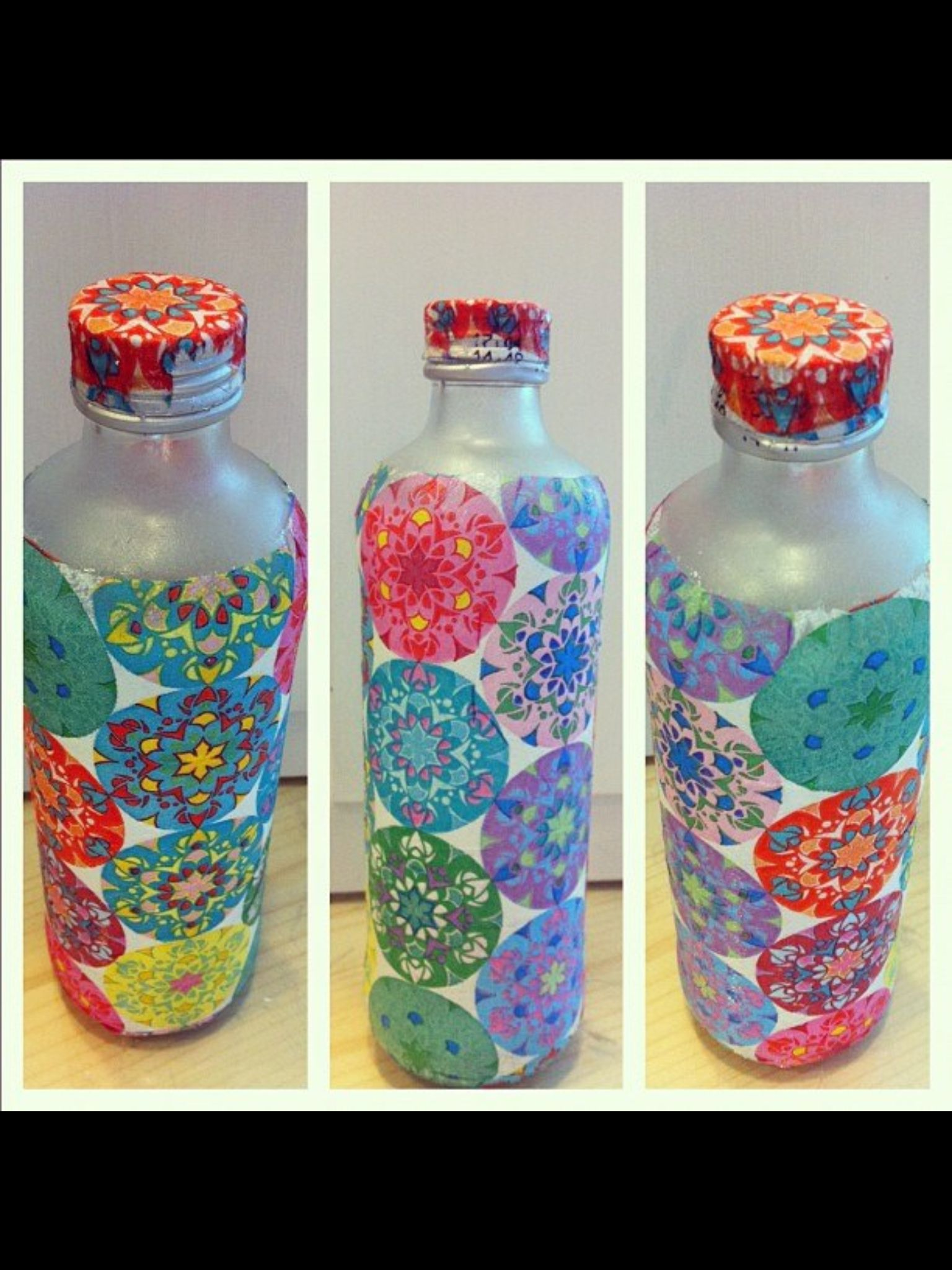 Glass Water bottle decoration:)  Decorated water bottles, Wine