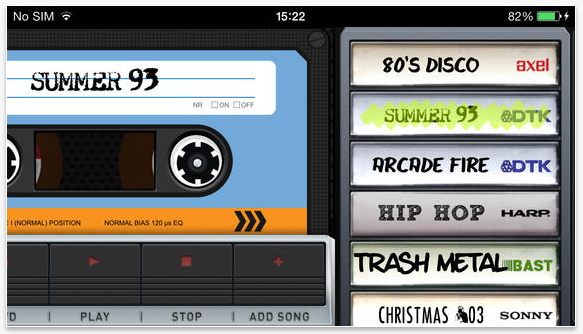 Return To The Old Times With Vintape For iOS App, Musica