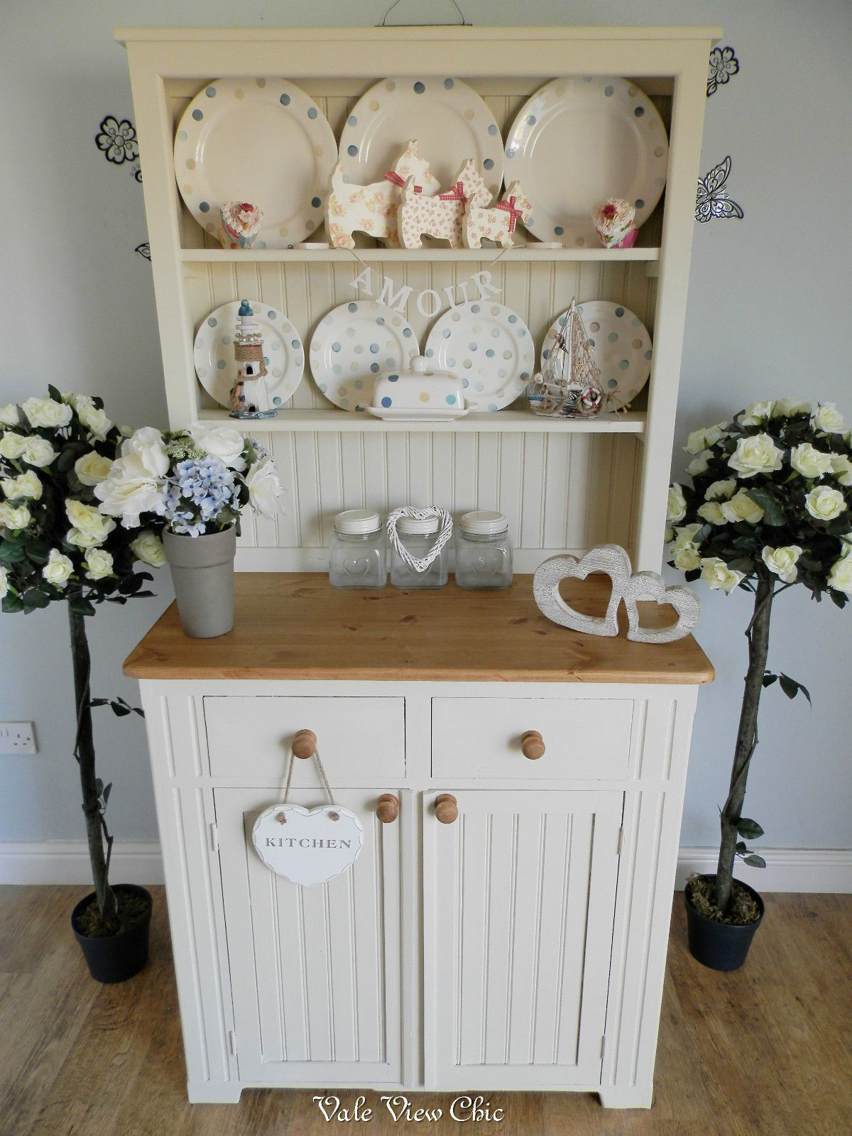 Beautiful Pe Rustic Solid Pine Country Kitchen Dresser Shabby Chic