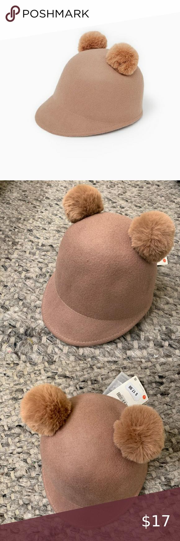 Kids Zara Double Pom Pom Cap Double Pom Wool Caps Pom Pom