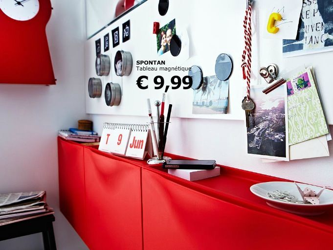 Tableau Magnetique Spontan Ikea Almacenamiento Pequeno Ikea Hogar