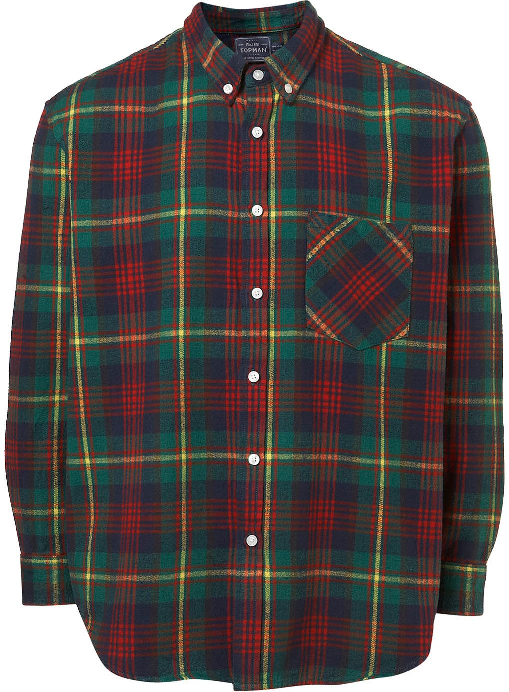 Green Tartan Flannel Shirt, Luxire $70 | Owned-Casual-Tops ...